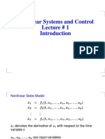 Lecture on introduction to control theory