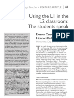 Using the L1 in the L2 classroom