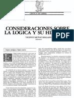 Consideraciones sobre la lógica y su historia - Vicente Muñoz Delgado, (Salamanca - 1979)