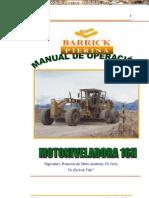 Manual Operacion Mantenimiento Motoniveladora 16h Caterpillar