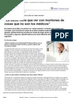 """Página_12 __ Dialogos __ """"La salud tiene que ver con montones de cosas que no son los médicos"""""""