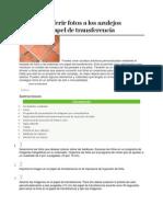 Cómo transferir fotos a los azulejos utilizando papel de transferencia