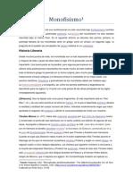 Monofisismo Enciclopedia católica