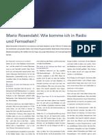 Wie Komme Ich in Radio Und TV - Interview Mit Mario Rosendahl Von EYECANSEE