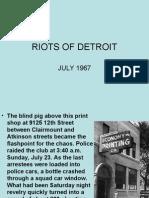Riots of Detroit