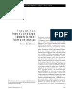 Comunicación intercelular a larga distancia vía el floema en plantas