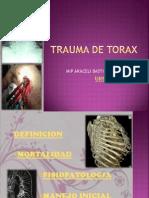 Trauma de Torax y Abdomen