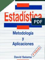 Estadística- Metodología  y  Aplicaciones. D