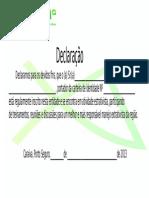 declaraçao