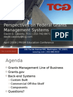 Federal Grants Management Systems Landscape, 4/30/09
