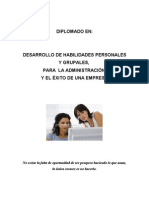 Publicidad - Diplomado en Desarrollo de Las Capacidades Personales y Grupales