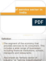 Growth of service sector in India