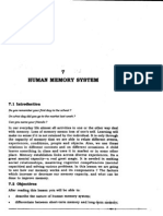 7 Human Memory System