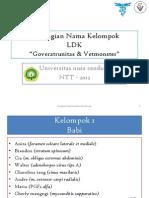 Pembagian Nama Kelompok LDK Govera & Vetmonster