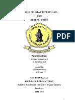 Irwan Punya Retensi Urine & BPH