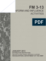 FM 3-13 Inform and Influence Activities (2013) uploaded by Richard J. Campbell