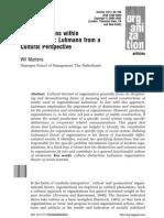 5.- Distinction Within Organizations