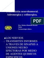 Transmision Neurohumoral Adrenergica y Colinergica