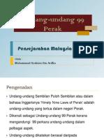Undang-undang 99 Perak