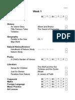 Year 1 Checklist
