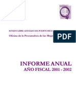 Informe Anual OPM 2001-2002