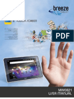 AOC MW0821 Tablet User Manual V1.1