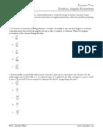 Practice Test 6 Rotation Angular Momentum