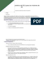 Códigos de diagnóstico del ECU para los motores toyota  4A