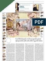 IL MUSEO DEL MONDO 26 - La Creazione Di Eva Di Michelangelo Buonarroti (1511) - La Repubblica 23.06.2013
