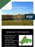 Food Systems Planning Community Presentation