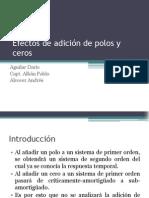 Efectos de adición de polos y ceros