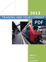 Training and Development in SAIL
