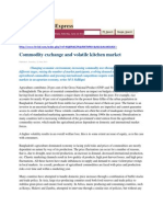Commodity Exchange and Volatile Kitchen Market