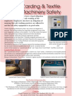 Carding Textile Machinery Safety