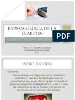 Farmacologia Diabetes; resistencia a la insulina; diabetes gestacional