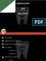 32191006 Orientation Jaw Relation Prostho