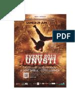 Programmation Du Battle International UnVsti Event 2013