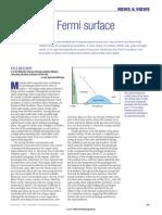 Superconductivity Death of a Fermi Surface