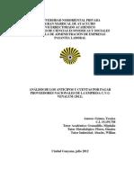 Analisis de Los Anticipos y Cuentas Por Pagar Proveedores Nacionales