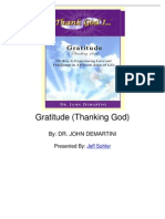 Gratitude Thanking God by Dr John Demartini