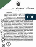 RM 0547 aprueba lineamientos Desempeño Docente