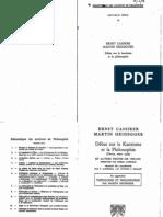 Ernst Cassirer & Martin Heidegger - Débat sur le kantisme et la philosophie