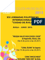 FOLLETO JORNADAS POLIFONICAS 2013