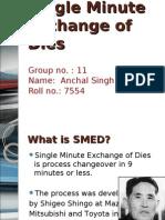 Single Minute Exchange of Dies(S.M.ED)