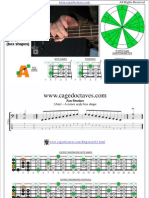 AGEDC4BASS A natural minor scale box shapes