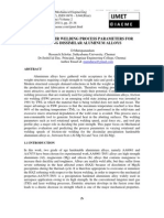 Friction Stir Welding Process Parameters for Joining Dissimilar Aluminum Alloys