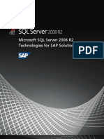 Microsoft SQL Server 2008 R2 Technologies for SAP Solutions Whitepaper