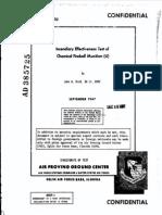 Incendiary Effectiveness Test of Fireball Munition 1967