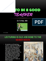 Wish to be a good teacher