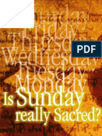 Is Sunday Really Sacred? - By Joe Crews